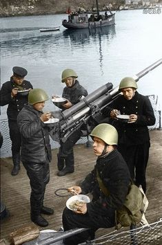 Russian soldiers during World War 2, color photo 13