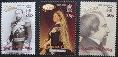 Death centenary of Queen Victoria stamps, 2001 Tristan da Cunha, SG ref: 701-706