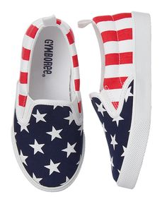 Gymboree Boy Red White & Cute Flag Sneakers