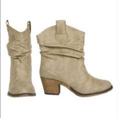 Spotted while shopping on Poshmark: Short cut heel boots! #poshmark #fashion #shopping #style #Shoes