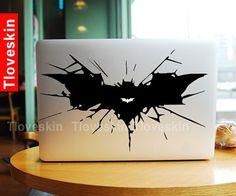 Big Batman Logo-Macbook Decal Macbook Stickers Mac Cover Skins Vinyl Decals for Apple Laptop Macbook Pro Air Uniboday Partial Skin 2247 on Etsy, $9.99