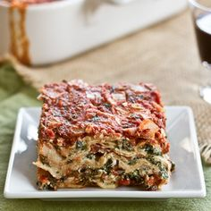 I caught an episode of Cook's Country TV one Saturday when they featured this Spinach Lasagna. Knowing any sort of spinach pasta would be a huge hit with my daughter, I printed off the recipe while it was still available on-line.