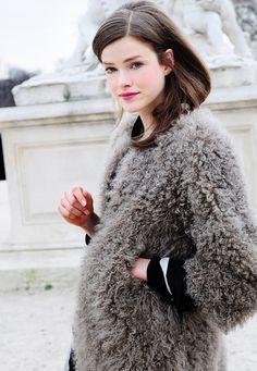 Furry coat.