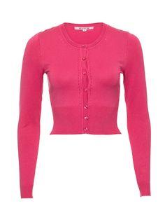 Maggie Long Sleeve Cardi | Carnation | Cardigans Girls Wardrobe, My Wardrobe, Pullover Mode, Rockabilly, Sweater Fashion, Pink Tops, Vintage Looks, Knit Cardigan, Knitwear