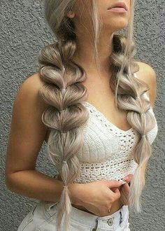40 Trendy Braided Hairstyles For Long Hair To Look Amazingly Awesome; long weddi… 40 Trendy Braided Hairstyles For Long Hair To Look Amazingly Awesome;Beautiful prom hairstyles long hairstyles for teens. Teen Hairstyles, Wedding Hairstyles For Long Hair, Box Braids Hairstyles, Braids For Long Hair, Hairstyles 2018, Long Braided Hairstyles, Pretty Hairstyles, Big Braids, Braids For Prom
