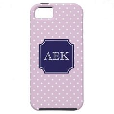 Polka Dots Monogram Cover For iPhone 5/5S