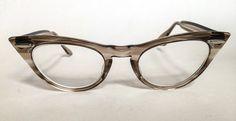 Vintage 1960's Cat Eye Transparent Grey Swirled by GinchiestGoods