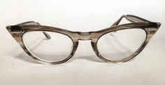 Vintage 1960's Cat Eye Transparent Grey Swirled by GinchiestGoods