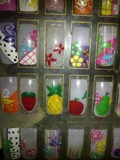 Imágenes de curso de uñas y diseño. tijuana en Tijuana 3d Nails, Wine Glass, Nail Designs, Hair Beauty, Nails, Black Acrylic Nails, Hair And Nails, Short Nails, Ladybugs