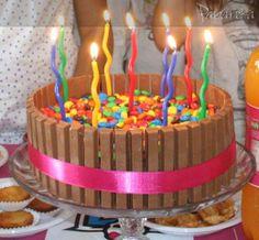bolo de aniversário kit kat