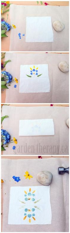 How to Print with Flowers on Fabric DIY Project (via www.gardentherapy.ca)