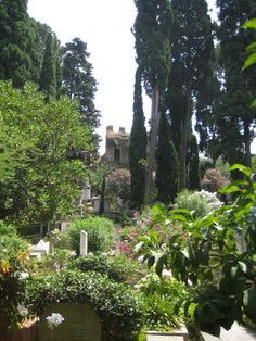 A hidden gem: the Protestant Cemetery, Rome. It is beautiful, as you can see. The poets Keats and Shelley are buried here, there are beautiful sculptures on some of the tombs, the ancient Pyramid of Cestius, and a cat sanctuary. I go here often as my father is buried here.