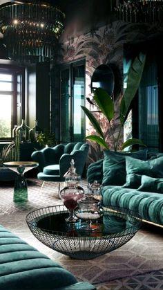 Home Room Design, Dream Home Design, Home Interior Design, Living Room Designs, Interior Design Inspiration, Colorful Interior Design, Vintage Interior Design, Beautiful Interior Design, Vintage Design