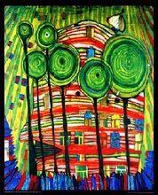 """Friedensreich Hundertwasser, """"Blobs Grow In Beloved Gardens"""". Hundertwasser was an Austrian architect and painter. Friedensreich Hundertwasser, Arte Elemental, Art Encadrée, Artist Art, Blog Art, Framed Art, Wall Art, Wall Decal, Inspiration Art"""