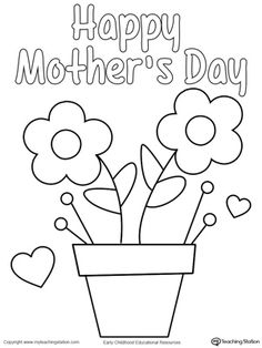 **FREE** Mother's Day Homemade Card Worksheet.Give mom a special homemade card with My Teaching Station Mother's Day coloring printable page.