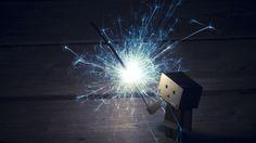#Danbo with #Sparkler #HD #Backgrounds http://goo.gl/fb/Dg8mCO  #rendom
