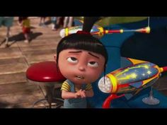 """Despicable Me!  """"It's so FLUFFY!  I'm gonna DIE!""""  I never noticed the carnival guy has a :( on his shirt!  Funnier!"""