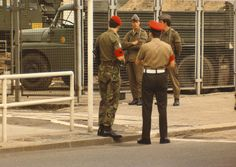 border troops of the german democratic republic | GDR forces at the border between East and West Germany. The border was ...
