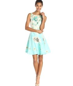 49da33b75a Fit and flare sundress in pastel blue   floral print Cheap Summer Dresses