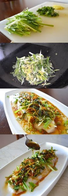 Cantonese Steamed Fish by thewoksoflife #Fish #Steamed #Healthy