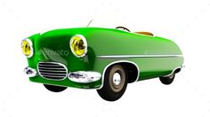 Toy Green Car. 3D Render by gorbovoi81 Funny small toy car cabriolet . 3D render. Included JPG and transparent PNG.
