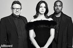 Lana Del Rey & Kanye West and Lucian Grange for Billboard Magazine!