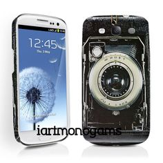 Having a hard time picking a phone case....cute Vintage Camera Samsung Galaxy S3 Case by iArtMonograms on Etsy, $35.00