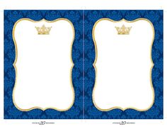 Royal Blue And Gold, Blue Gold, Gold Invitations, Baby Shower Invitations, Crown Cupcake Toppers, Free Printable Bookmarks, Navy Background, Baby Boy Shower, Gold Glitter