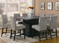Stanton  9 Piece Table and Chair Set by Coaster I want this!!!!! This is PERFECT!!!!!