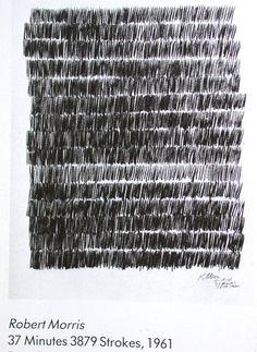 37 minutes, 3879 strokes, Robert Morris, pencil on paper, 24 x 19 Robert Morris, Fluxus, New Media Art, Painting Collage, Illustration, Process Art, Mark Making, Land Art, Texture Art