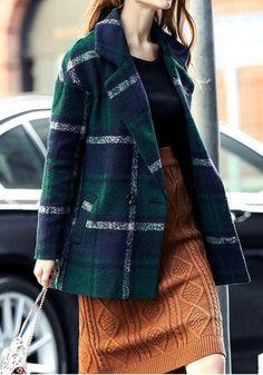 Classic Green Tartan Coat