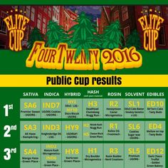 The official public results fromThe Elite Cup 420 Edition Amsterdam 2016!