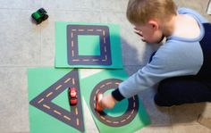 "printable race track game | made him some shape ""race tracks"" out of contruction paper. I ..."
