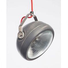 Aparte industriele lamp in het oud grijs met een kap die u kunt richten zodat het licht precies op de goede plek komt. ✓ Snelle levering ✓ Keurmerk