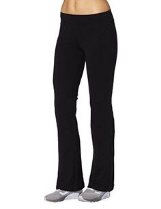 8aa90e6c86962a Aenlley Womens Workout BootLeg Athletica Yoga Pants Spanx Gym Fitness  Activewear Color Black Size XL *