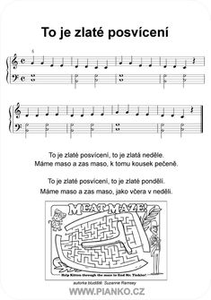 PIANKO: To je zlaté posvícení Kids Piano, Periodic Table, Sheet Music, Carnival, Periotic Table, Music Score, Music Charts, Music Sheets