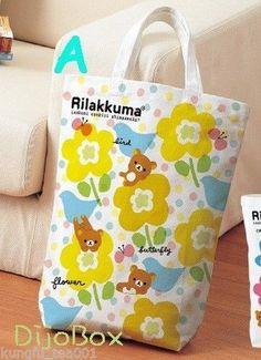 San x Rilakkuma Relax Bear Shopping Tote Bag School Casual Wear Handbag Japan A | eBay
