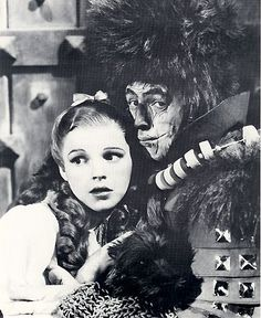 Judy Garland and Ray Bolger in the Witch's Castle