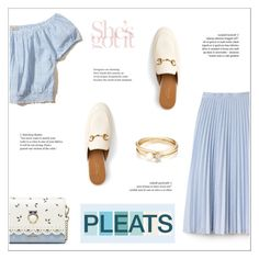 """""""Pleats."""" by achernar ❤ liked on Polyvore featuring Lacoste, Hollister Co., Gucci and Loren Stewart"""