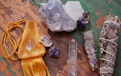 Smudging wands and quartz crystals...