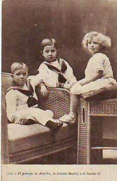 Alfonso, Prince of Asturias; Infante Jaime of Spain; Infanta Beatriz of Spain