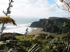 Karekare Beach, Waitakere City, West Auckland, New Zealand. Camping New Zealand, New Zealand Travel, Honeymoon In New Zealand, Places Around The World, Around The Worlds, Abel Tasman National Park, Bay Of Islands, Travel List, Auckland