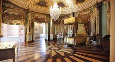 Quarto de D. Pedro no Palácio de Queluz, em Portugal, é aberto à visitação