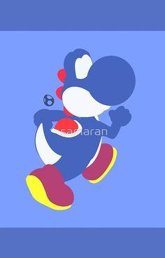 Yoshi (Blue) - Super Smash Bros.