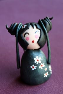 Cendrine qui fait des chôses ...: kokeshi fimo