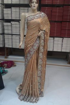 Hand work saree available at Shop Saheli Couture