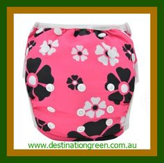 Swim Nappy - daisy NEW, $16.00 one, size fits most, fully adjustable #reusableswimnappy #swimnappy, #swimmingnappy #clothswimnappy