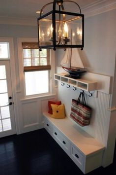 Mudroom entryway, love it! Entry Way Design, Deco Design, My Dream Home, Home Organization, Home Projects, Sweet Home, New Homes, House Design, Interior Design