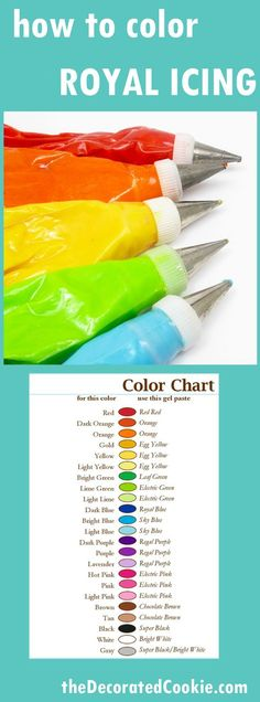 How to Color Royal Icing and Frosting with Food Coloring ~ Coloring royal icing and frosting can be one of the most frustrating aspects of cookie decorating. But you really can achieve just about any color imaginable
