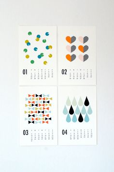 2013 wall calendar. $22.00, via Etsy.
